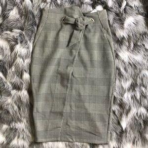 H&M Extreme High Waisted Asymmetrical Skirt